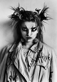 Nina Hagen. German Punk singer. Unusual face and incredible voice.
