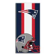 New England Patriots NFL Zone Read Cotton Beach Towel 30in x 60in