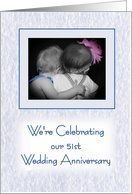 51st Wedding Anniversary celebration party invitation - little girl and boy hugging Card by Greeting Card Universe. $3.00. 5 x 7 inch premium quality folded paper greeting card. Find Wedding Anniversary invitations for your special event at Greeting Card Universe. We will mail the invitations to you or direct to your loved ones. Let Greeting Card Universe help you find the best Wedding Anniversary invitation this year. This paper card includes the following themes: 51...