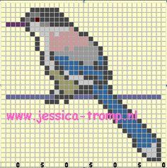 borduren vogels kruissteekpatronen birds cross stitch charts (16)