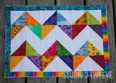Zig-zag quilted placemat copy by megmormel, via Flickr