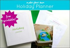 Make Your own Holiday Planner with FREE printables