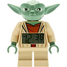 LEGO Star Wars Yoda Minifigure Alarm Clock - for you Star Wars loving kid (or hubby)