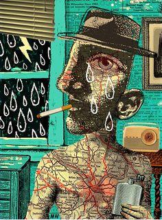 Collage e ilustración de MICHAEL WARAKSA : ColectivoBicicleta | Revista digital /Artes visuales. ilustración y diseño Colombia y Latinoamerica