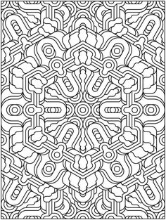 Welcome To Dover Publications Creative Haven Mandala Techellations Coloring Book