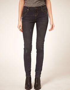 ASOS Skinny Jeans in Blue Black Overdye #4 - StyleSays