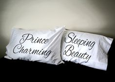 Sleeping Beauty Prince Charming His and Her Pillowcase set, Couples Gift by aGoGoPillowcases on Etsy https://www.etsy.com/listing/214763068/sleeping-beauty-prince-charming-his-and