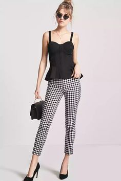 Product Name:High-Rise Gingham Pants, Category:promo-best-sellers-app, Price:17.9