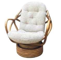 Vintage Bamboo Swivel Rocking Chair By Grabaseat On Etsy