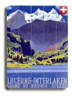 a vintage tourism ad for Interlaken/Switzerland