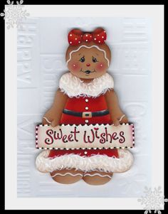 Gingerbread Sweet Wishes Painting EPattern by GingerbreadCuties, $4.00