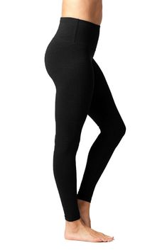 506b6e535b2882 90 Degree By Reflex High Waist Cotton Power Flex Leggings Tummy Control  Black 2 Pack Small