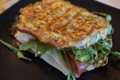 grøntsagspanini med brød af gulerødder og squash