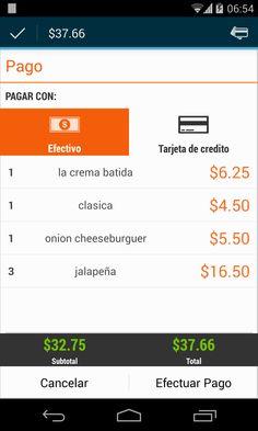 seleccionar el tipo de pago en pozool punto de venta para bares y restaurantes.