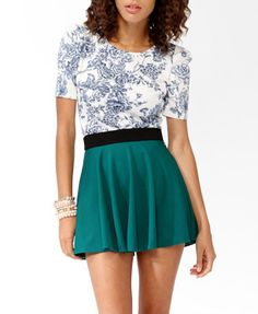 Floral Gathered Sleeve Top | FOREVER21 - 2025101658