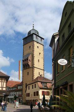 Bayersturm (old watchtower), Lohr am Main, Bavaria, Germany