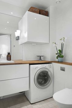 Pin by karen tuff on Utility Room Laundry Bathroom Combo, Laundry Room Design, Bathroom Design Small, Bathroom Cleaning, White Bathroom, Bathroom Interior Design, Master Bathroom, Bathroom Design Inspiration, Bad Inspiration