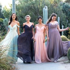 Colored bridesmaid dresses available at Kleinfeld Bridal Party. Wedding Show, Summer Wedding, Dream Wedding, Bridesmaid Dresses, Wedding Dresses, Bridesmaid Color, Bridesmaids, Bridesmaid Inspiration, Allure Bridal