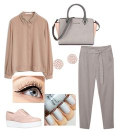 """""""Outfit"""" by meloprea ❤ liked on Polyvore featuring MANGO, Carvela, Swarovski and Luminess Air"""