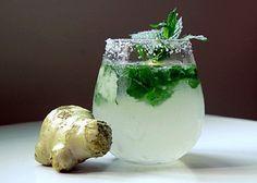 Ingwer, Zitrone, Gurke Saft für flachen Bauch