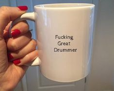 A funny coffee cup gift idea for the Drumming types and Musicians amongst us!