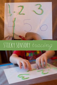 Ditch the tracing worksheets! Try sensory tracing for preschoolers learning to write.