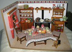 Küche Puppenstube Landhausküche Lebensmittel Schränke in 1:12 in Spielzeug, Puppenstuben & -häuser, Häuser   eBay