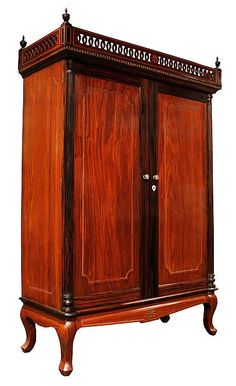 Aparador with Pampanga Provenance, c. (Narra, Kamagong, Lanite and Silver) Antique Furniture, Wood Art, 19th Century, Auction, Filipino, Antiques, Storage, Philippines, Cabinets