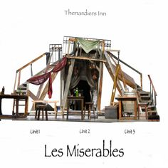 """Basic Three Unit Design Concept for Valverde Performing Arts.  """"Thenardiers Inn/Master of the house."""