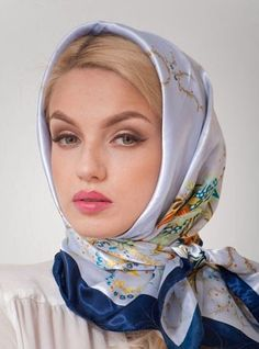 at one time all fashionable women carried a scarf and protected their hair styles when it was windy outside ~ or driving a convertible sports car cafsew colours Ways To Wear A Scarf, How To Wear Scarves, Turbans, Headscarves, Hijabs, Headband Hairstyles, Braided Hairstyles, Hair Accessories For Women, Fashion Accessories