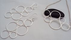 Sterling silver organic circle cluster earring and by JadeMac, $95.00