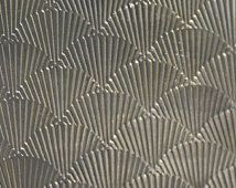 Níquel plata textura Metal hoja Colibrí alas modelo 20g - 6 1/8 x 2 1/4 pulgadas - pulseras colgantes de metal