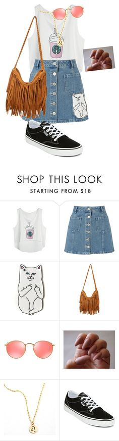 """""""-sis"""" by rainbowdash1313 on Polyvore featuring Miss Selfridge, RIPNDIP, Ray-Ban and Vans"""
