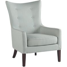 Mist colored armchair with high back
