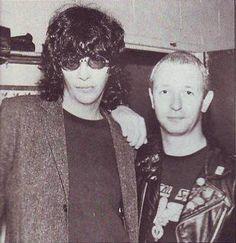 Joey Ramone and Rob Halford