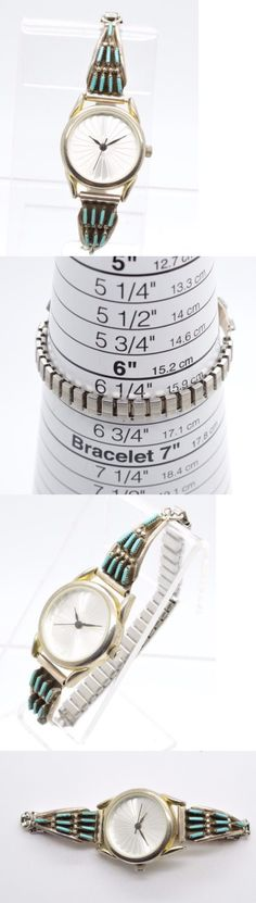 Watches 98502: Native American Turquoise Sterling Silver Watch Band Zuni Ladies Watch Works! -> BUY IT NOW ONLY: $49.99 on eBay!