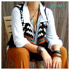Bo-M: Colete Crochet Shawl, Turquoise, Pullover, Knitting, Cardigan, Crocheting, Collection, Crafts, Fashion