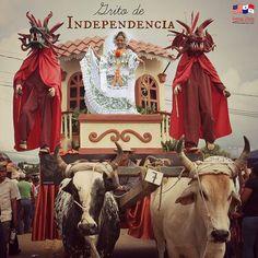 Dia del Grito de independencia.  Desfile en Los Santos, Panamá.