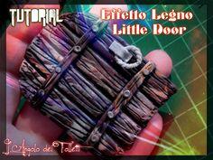 TUTORIAL #4 - EFFETTO LEGNO/ LITTLE DOOR in fimo by L'Angolo dei Folletti