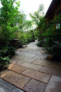 Japanese Modern, Japanese Art, Japan Garden, Bonsai Garden, Pavement, Pathways, Landscape Architecture, Entrance, Sidewalk