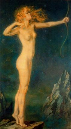 """Artemis"" painting by Jorge Apperley (George Owen Wynne Apperley) Dante Gabriel Rossetti, Memento Mori, Gods And Goddesses, Figure Painting, Figure Drawing, Love Art, Art History, Amazing Art, Art Photography"