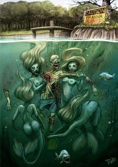 Piranha Mermaids. Interesting...   http://www.worldofpiranhas.com
