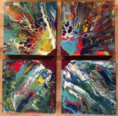 Primary Joy Times 4, acrylic paintings, by jan t adams