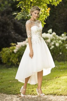 Tea Length Bridal and 50's Style Short Wedding Dresses | Brighton Belle | Monique | True Bride