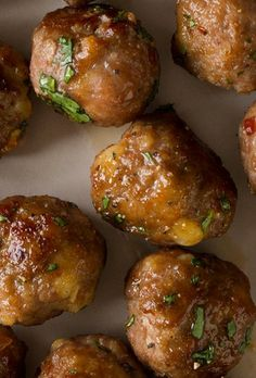 Ginger-Garlic Cocktail Meatballs~ eat them as an appetizer, put them on a pasta, or put them in a huge sandwich.
