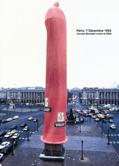 A classic many of you are too young to remember. United Colors of Benetton shealthed the Luxor Obelisk in Paris in a condom for AIDS awareness.   10 More Of The Coolest Unconventional Ads