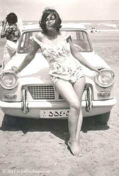 Iranian woman in the era before the Islamic revolution by Ayatollah Khomeini.