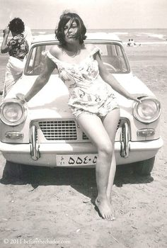 Iranian woman in the era before the Islamic revolution by Ayatollah Khomeini.