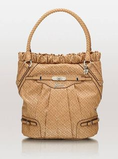 GUESS - Bevy Anour Domec Satchel (Pewter) - Bags and Luggage  4af54c3a0e6da