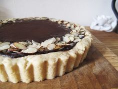 WANT Vegan Chocolate Tart #vegan